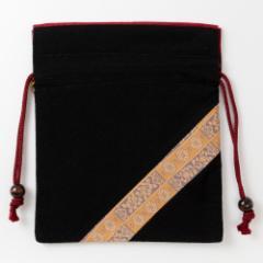 京都 あらいそ 西陣織名物裂 巾着袋076 Kyoto nishijin, Drawstring bag