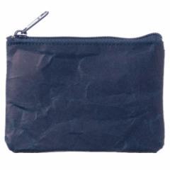 SIWA|紙和 コインケース wide ダークブルー 破れにくい紙・ナオロン製小銭入れ 山梨県の工芸品 Durable paper coin purse