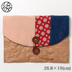 ちょこっとお出かけ封筒ヨコ型(A5サイズ)002 米袋封筒のちほど Handbag made of rice bag