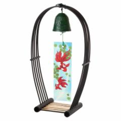 駿河竹千筋細工 置き風鈴 黒 塗り・小 (9701) 静岡県伝統工芸品 Suruga-takesensuji-zaiku, Wind bell made of bamboo sticks