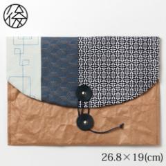 ちょこっとお出かけ封筒ヨコ型(A5サイズ)003 米袋封筒のちほど Handbag made of rice bag