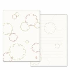 和詩倶楽部 みこと箋 雪輪(便箋10枚+封筒4枚セット) (LM-008)
