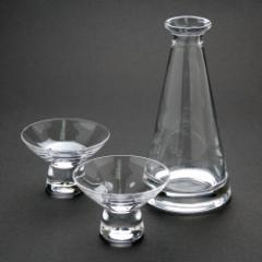 江戸硝子 徳利×盃揃い(日本酒におすすめ) Edo glass Sake set