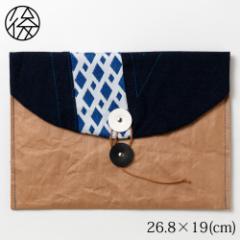 ちょこっとお出かけ封筒ヨコ型(A5サイズ)005 米袋封筒のちほど Handbag made of rice bag