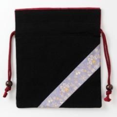 京都 あらいそ 西陣織名物裂 巾着袋082 Kyoto nishijin, Drawstring bag
