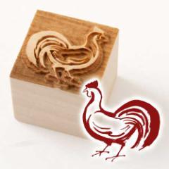 京からかみ 木版ミニスタンプ 添文 鶏文 京都府の工芸品 Karakami woodblock stamp