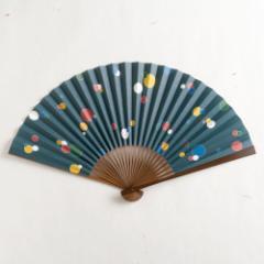 【扇子】傾奇扇 伊達五星 (SA-020) 和紙の扇子7寸5分 和詩倶楽部 Sensu fan, Washi-club ※在庫限り