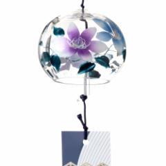 ぎやまん風鈴 鉄仙 クリスタルガラス風鈴 木之本 福島県の工芸品 Wind bell, Fukushima craft