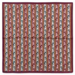 京都 あらいそ 綿風呂敷 縞唐草花紋 50cm Kyoto cotton wrapping cloth