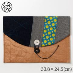 お出かけ封筒ヨコ型(A4サイズ)005 米袋封筒のちほど Handbag made of rice bag