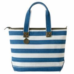 小島屋 帆布のボーダートート ブルー×ブルー 武州正藍染トートバッグ 埼玉県の工芸品 Tote bag made of indigo dye fabric, Saitam