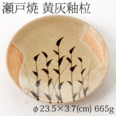 【半額・在庫処分】瀬戸焼 黄灰釉柆 大皿 7寸 Setoyaki kikaiyu rou platter