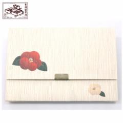 【懐紙入れ】室町紗紙 七宝椿 (KR-018) 和詩倶楽部 Kaishi case, Muromachi shoushi