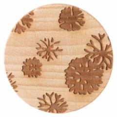 唐紙アクセサリー ブローチ 海松の丸 木製アクセサリー 京都府の工芸品 Karakami wooden accessory, Brooch