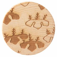 唐紙アクセサリー ブローチ 光悦桐 木製アクセサリー 京都府の工芸品 Karakami wooden accessory, Brooch
