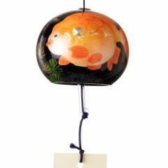 うるし匠風鈴 金魚 クリスタルガラス風鈴 木之本 福島県の工芸品 Wind bell, Fukushima craft