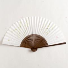 【扇子】女房扇 綾柳 (SB-005) 和紙の扇子6寸5分 和詩倶楽部 Sensu fan, Washi-club ※在庫限り