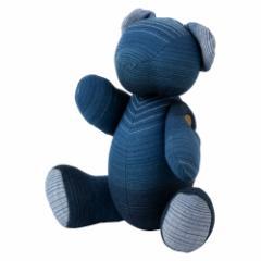 小島屋 藍染めベア・あいくま グラデーション/ブルー 武州正藍染の置物 クマの人形 テディベア 埼玉県の工芸品 Bear doll made o