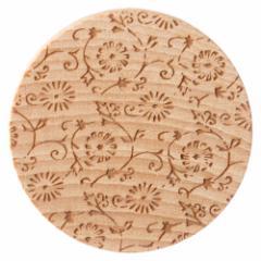 唐紙アクセサリー ブローチ ねじ菊 木製アクセサリー 京都府の工芸品 Karakami wooden accessory, Brooch