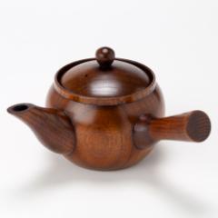木製漆塗り急須 ナツメ (KS) 茶こし付き Wooden teapot