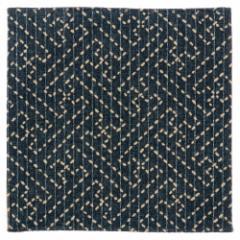 百道発信 綾 コースター オールドブルー (IKI-1451) リバーシブル 11×11cm 福岡県の布製品 Fabric coaster, Fukuoka craft