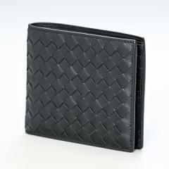 ボッテガヴェネタ 財布 二つ折り財布 メンズ 札入れ イントレチャート ネロ ブラック 138625 V4651 1000 ギフト 父の日 送料無料