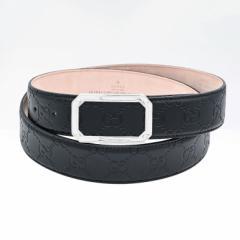 グッチ ベルト メンズ シグネチャー レザー スクエア バックル ブラック 403941 CWC0N 1000 送料無料 プレゼント 実用的 ギフト 敬老の日