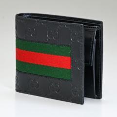 グッチ 財布 二つ折り財布 シグネチャー レザー ウェブ 408826 CWCLN 1060 送料無料 プレゼント 実用的 ギフト alevel Alevel エイレベル