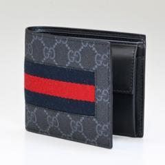 グッチ 財布 二つ折り財布 メンズ GGスプリーム ニューウェブ ブラック 408826 KHN4N 1095 送料無料 プレゼント 実用的 ギフト alevel Al