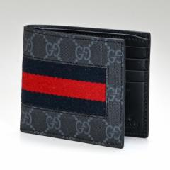 グッチ 財布 二つ折り財布 メンズ GGスプリーム ニューウェブ ブラック 408827 KHN4N 1095 送料無料 プレゼント 実用的 ギフト alevel Al