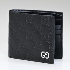 グッチ 財布 二つ折り財布 メンズ ダラーカーフ ブラック 473916 CWC1N 1000 送料無料 プレゼント 実用的 ギフト alevel Alevel エイレベ