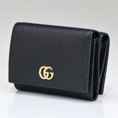 グッチ 財布 三つ折り財布 ミニ財布 レディース プチ マーモント ダブルG ブラック 474746 CAO0G 1000 送料無料 プレゼント 実用的 ギフ