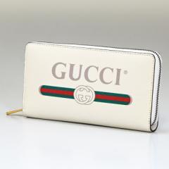 グッチ 財布 長財布 ラウンドファスナー メンズ レディース ヴィンテージロゴ プリント 496317 0GCAT 8820 ホワイト 送料無料 プレゼント