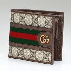 グッチ 財布 二つ折り財布 メンズ オフィディアGGコイン GGスプリームキャンバス ベージュ ブラウン 597609 96IWT 8745 送料無料 プレゼ