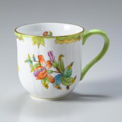 還元祭 母の日 ギフト ヘレンド マグカップ ヴィクトリア・ブーケ 200ml 1739000 VBO 01739000-VBO 名入れ可有料 食器 洋食器 手描き ネ