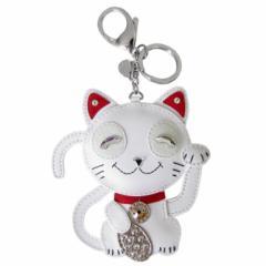 母の日 ギフト スワロフスキー キーリング バッグチャーム Cat 猫 招き猫 5271853 送料無料