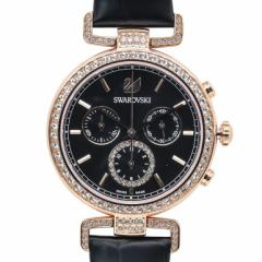 母の日 ギフト スワロフスキー 腕時計 レディース Era Journey ブラック ローズゴールド クロノグラフ 時計 ウォッチ 5295320 送料無料