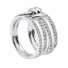 還元祭 母の日 ギフト スワロフスキー リング レディース 指輪 ライフロングワイドリング LIFELONG WIDE 9号 シルバー 5412039 送料無料