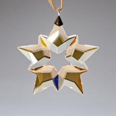 母の日 ギフト スワロフスキー クリスタル オーナメント クリスマス リトルスター LITTLE STAR ゴールド インテリア 飾り 置物 5476002