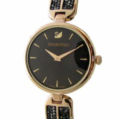 母の日 ギフト スワロフスキー 腕時計 レディース ブラック シャンパンゴールド ブレスレットウォッチ DREAM ROCK 5519315 送料無料