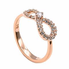 還元祭 母の日 ギフト スワロフスキー リング レディース 指輪 インフィニティ INFINITY 11号 ローズゴールド 5535400 送料無料