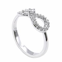 還元祭 母の日 ギフト スワロフスキー リング レディース 指輪 インフィニティ INFINITY 9号 シルバー 5535410 送料無料