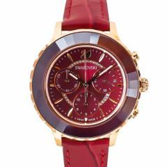 母の日 ギフト スワロフスキー 腕時計 OCTEA LUX CHRONO ウォッチ レディース ローズゴールド/ボルドー 5547642 送料無料