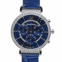 母の日 ギフト スワロフスキー 腕時計 PASSAGE CHRONO ウォッチ レディース シルバー/ブルー 5580342 送料無料