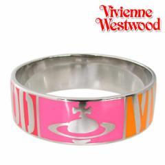 母の日 ギフト ヴィヴィアンウエストウッド バングル WESTWOOD ブレスレット オレンジ×ピンク×レッド 送料無料