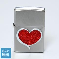 ジッポー ライター 名入れ無料 GLITTER HEART グリッターハート シルバー 29410 ネーム入れ ギフト 父の日