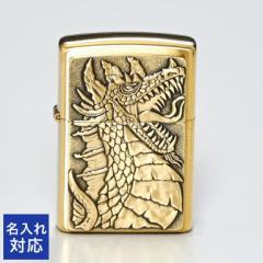ジッポー ライター 名入れ無料 Dragon Emblem Design ゴールド 49297 ギフト 父の日 送料無料