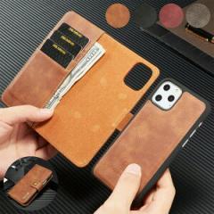 手帳スマホケース 2Way DG.MING カード収納付き(送料無料)携帯ケース 手帳型 スマホカバー マグネット式iphone
