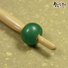 かんざしや とんぼ玉 かんざし アンティーク ビーズ 無地 緑色 現品限り 1点もの 髪飾り ヘアアクセサリー