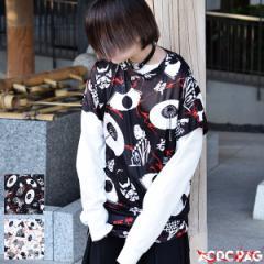 カブキTシャツ 原宿系 ファッション 和柄 漢字 パンク ロック 派手 かわいい 派手カワ 大きいサイズ レディース メンズ 半袖 薄手 個性的
